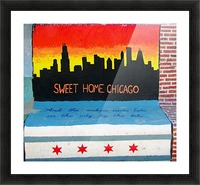 Chicago - Bench Art in Rogers Park Picture Frame print