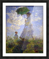 Monet Umbrella Picture Frame print