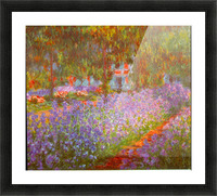 Monets Garden by Monet Picture Frame print