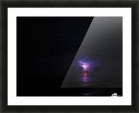 Lightning up the Sea Picture Frame print