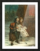Small children with newspapers Impression et Cadre photo