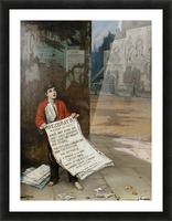 A London Newsboy 1893 Impression et Cadre photo