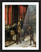 A group of children gazing through the window Impression et Cadre photo