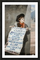 A small boy advertising the news Picture Frame print