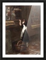 A girl in a black dress Impression et Cadre photo