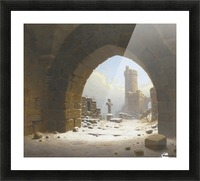 Ruins on the edge of the city Picture Frame print