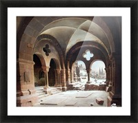 Abbey Cloister in Winter Picture Frame print