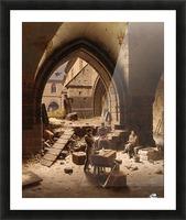 Partie des Kreuzgange der Liebfrauenkirche Picture Frame print