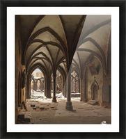 Die Ruine des Klosters Walkenried im Winter Picture Frame print