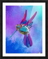Glass Bird Abstract  Picture Frame print
