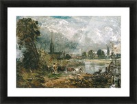 Salisbury Cathedral from the Meadows Picture Frame print