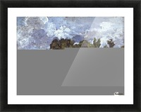 Night Scene with Bridge Picture Frame print