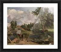 Scene on a Navigable River Picture Frame print