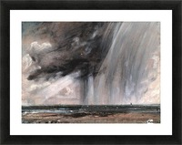 Rainstorm over the sea Picture Frame print