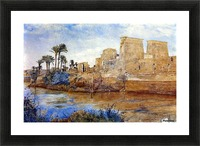 Philae from the Island of Biggeh, 1894 Picture Frame print