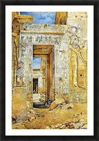 An Egiptian gate Picture Frame print