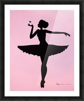 Ballerina Sillhouette (Pink Picture Frame print