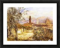 View of the Duomo fro the Mozzi Garden Florence 1877 Picture Frame print