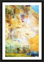 Painting of the Pharaon Picture Frame print
