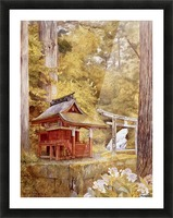 Japanese Pagoda In The Woods Picture Frame print