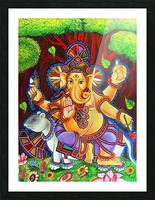 GANAPATHY MURAL Picture Frame print