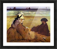 On the beach by Edouard Manet Picture Frame print