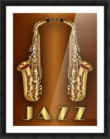 Gold jazz  Picture Frame print