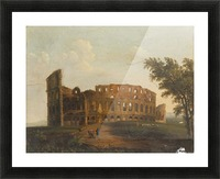 A walk near the colloseum Picture Frame print