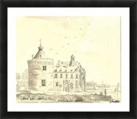 Children in front of the castle Picture Frame print