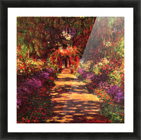 Path in Monets garden in Giverny by Monet Picture Frame print