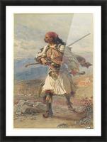 Greek Warrior Picture Frame print