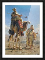 Riding the camel Picture Frame print