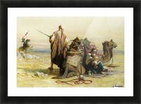 A battle scene Picture Frame print