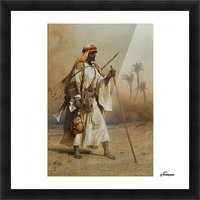 A warrior scouring the land Picture Frame print