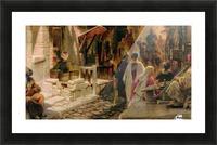 The Bazaar near Damascus Picture Frame print