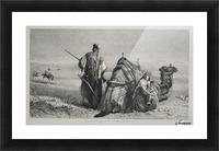 Danger in the desert Picture Frame print