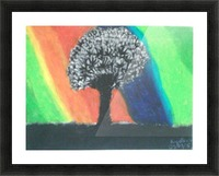 Shadowed tree Picture Frame print