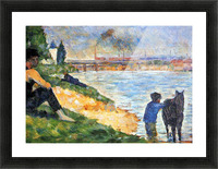 A swimming pool in Asnieres, study by Seurat Picture Frame print
