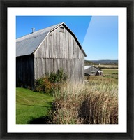Cattle barn, Penobsquis, NB, Oct. 6, 2013 Picture Frame print