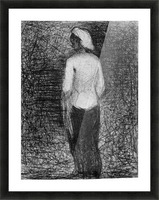 Artist by Seurat Picture Frame print