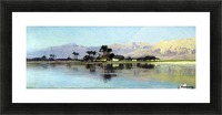 A distant island Picture Frame print