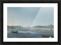 Three boats on the sea Picture Frame print