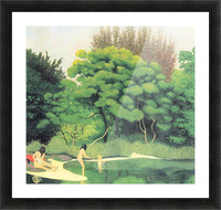 Bathers in the woods by Felix Vallotton Picture Frame print
