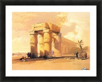 Egyptian ruines with figures Picture Frame print