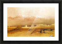 Ancient ruins near the desert Picture Frame print