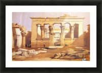 Ancient Egyptian civilization ruins with figures Picture Frame print