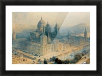 1836 The Palace of Escorial, Near Madrid, Spain Picture Frame print