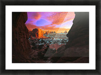 Rocky Buttes Viewed Through Canyon Picture Frame print
