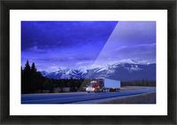 Semi-Trailer Truck Picture Frame print
