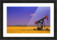 Pumpjack In A Canola Field Picture Frame print